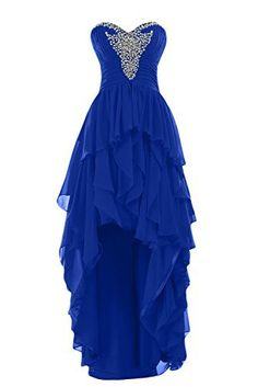 Sunvary 2015 High Low Ruffled Prom Evening Dresses Chiffon Bridesmaid Dress  Mother of the Bride Gowns 85d3da294f63
