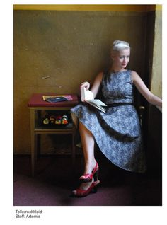 50s dress with flared skirt by ATELIERBERLIN on Etsy, €277.00