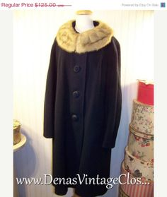 40 OFF THANKSGIVING SALE Vintage Navy Blue by DenasVintageCloset, $75.00