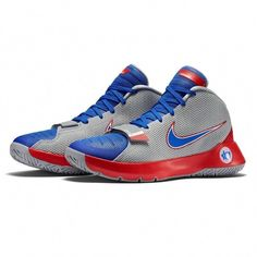 uk availability e04f5 81726 Nike KD Trey 5 III 3 Wolf Grey game Royal Blue university Red Sz for sale  online