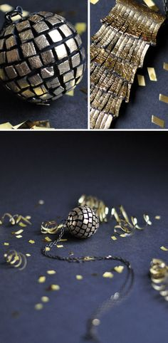 Swanky gold pendants you can make yourself.