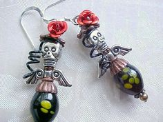 Day of the Dead Jewelry Day of the Dead Earrings Dia De Los Muertos Jewelry Mexican Folk Art Earrings Sterling Silver Art Doll Ornament by PinUpEarrings on Etsy https://www.etsy.com/listing/251116944/day-of-the-dead-jewelry-day-of-the-dead