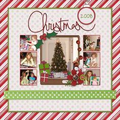 Image result for christmas scrapbook layouts #memoriesscrapbook