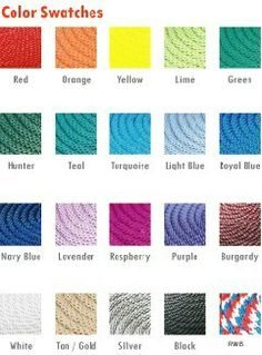 If you would like to have a sample of any color rope sent to you, please call us   800-789-5588