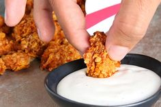 3-Ingredient BBQ Popcorn Chicken