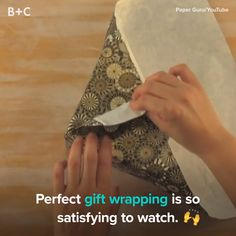 Watch this holiday video for an oddly satisfying perfectly wrapped gifts compilation. Watch this holiday video for an oddly satisfying perfectly wrapped gifts compilation.Watch this video for an oddly satisfying perfectly wrapped gifts compilation. Japanese Gift Wrapping, Japanese Gifts, Creative Gift Wrapping, Wrapping Ideas, Creative Gifts, Wrapping Presents, Gift Wrapping Tutorial, Wrapping Papers, Christmas Wrapping