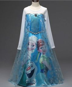 Queen Elsa - Frozen inspired floor dress 3ea1f4bb196c