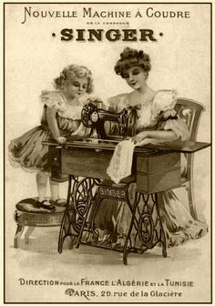 Retro Sewing Singer sewing machine vintage advertisement More - A fun roundup of easy sewing projects and patterns for beginners. Lots of easy projects to try from clothing, to home decor, bags, stuff for kids and more. Vintage Labels, Vintage Ephemera, Vintage Ads, Vintage Buttons, Vintage Stuff, Images Vintage, Vintage Pictures, Antique Sewing Machines, Vintage Sewing Patterns