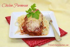Chicken Parmesan ~    You can have this tasty dish at home without having to go out to a fancy restaurant. Your family, and guests. will be truly impressed!    Recipe @:  http://www.michellestastycreations.com/2013/06/chicken-parmesan.html?utm_source=feedburner_medium=email_campaign=Feed%3A+MichellesTastyCreations+%28Michelle%27s+Tasty+Creations%29