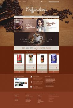 12+ Best Coffee Supplier Store Ecommerce Store PrestaShop Themes - Coffee Aroma