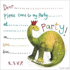 Dinosaur Birthday Party Invitation Dinasour Boy Parties 2nd