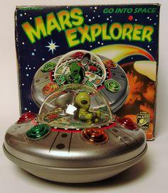 1985 Japan Tin Battery Operated Mars Explorer