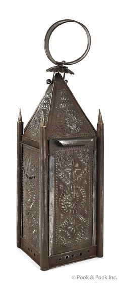 Punch tin carry lantern, 19th c.