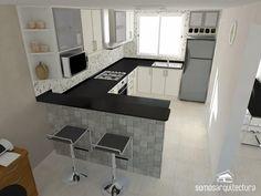 Ideas kitchen layout design modern for 2019 Kitchen Room Design, Kitchen Cabinet Design, Modern Kitchen Design, Home Decor Kitchen, Interior Design Kitchen, Home Kitchens, Kitchen Walls, Decorating Kitchen, Kitchen Cabinets