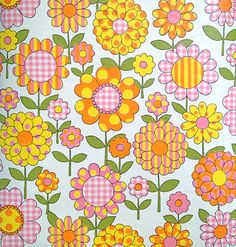 How lucky I was to have a mom who let me choose wallpaper very similar to this! (retro vintage 70s wallpaper)