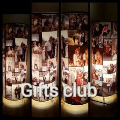 Gifts Club Photo Lamp.Customized Photo Lamp for your loved ones. This lamp adds up to a very elegant and and majestic look to any room in which you put it in. This lamp does have electrical fittings in it and the cylinder is made up of acrylic sheet on which a plastic based sheet is pasted .  Printed sheet is heat, dust and water resistant.Inbox for price or call 9650001371 Submit 15-20 images and text by any of the following methods:  Email your images and text to us at saurabh@giftsclub.in