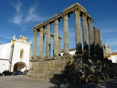 Evora, Portugal, is a fine example of a city from the Golden Age of Portugal. Explore little whitewashed houses embellished with pretty Dutch tiles.