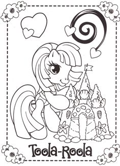 Easy Flower Drawings, Colorful Drawings, Colorful Pictures, Easy Drawings, My Little Pony Coloring, Coloring Pages For Kids, Kids Coloring, Pattern Coloring Pages, Coloring Book Pages