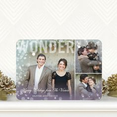 Wonder Overlay - #Holiday Photo Cards by Hallmark for Tiny Prints in Peppermint Blue