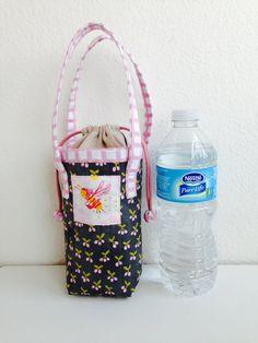 PDf Insulated Water Bottle Carrier Zakka door chickchickhandmade