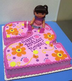 2nd Birthday Dora Cake! Cute idea... Idea for you Chelsey for Lily ! Mrs cake maker!