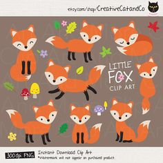 Fox Clipart Baby Fox Clip Art Cute Fox Clipart Forest Animal Woodland Fox Clipart Little Fox Graphic Cartoon Illustration Cliparts Clip Art Clipart Baby, Fuchs Illustration, Homemade Business, Little Fox, Clip Art, Kid Character, Cute Fox, Fox Art, Baby Cartoon