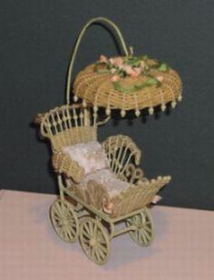 20 (2) (275x360, 59Kb) Victorian Home Decor, Victorian Dollhouse, Victorian Era, Victorian Fashion, Miniature Dollhouse Furniture, Dollhouse Miniatures, Vintage Pram, Mason Jar Candles, Paper Basket