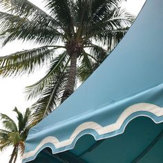 Awning goals on Worth Avenue! #palmbeach #awningstyle #colorinspiration .  .  .  .  #palmbeachflorida #florida #awnings #blue #palmtrees #alwayslookup #worthavenue #palmbeachstyle #palmbeachchic #darlingawning