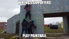 When CS:GO players go outside & play paintball