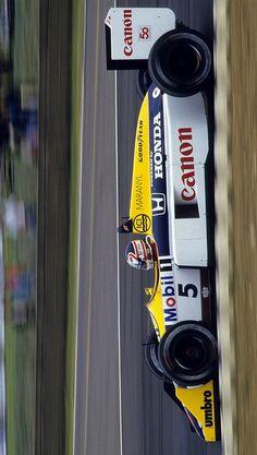 2018/12/5: Twitter: @LegenF1 : Nigel Mansell, Canon Williams FW11B - Honda RA167-E 1.5 V6. GP Silverstone 1987. #F1 #NigelMansell #Williams #FW11B #HondaF1 #RA167 #WilliamsFW11B #HondaRA167 #1987F1 Williams F1, Nigel Mansell, Mclaren Mp4, F 1, Formula One, Landline Phone, Grand Prix, Rally, Race Cars