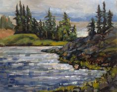 Art by Marcela Strasdas : Hourglass Lake - - Oil on Birch Panel Hourglass, Birch, Oil, Artist, Painting, Artists, Painting Art, Paintings, Painted Canvas
