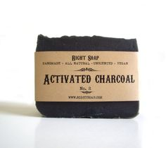 Activated Charcoal Soap Vegan Soap Unscented Soap by RightSoap Homemade Lip Balm, Homemade Facials, Homemade Face Masks, Homemade Moisturizer, Homemade Beauty, Homemade Gifts, Diy Gifts, Diy Charcoal Mask, Charcoal Face Scrub