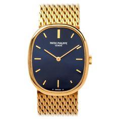 Patek Philippe Yellow Gold Ellipse Wristwatch with Integral Bracelet Ref 3548