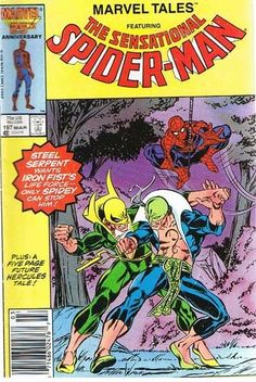 Comic Book Vintage Marvel Tales SENSATIONAL SPIDER-MAN 197 March 1987,  C38 A2