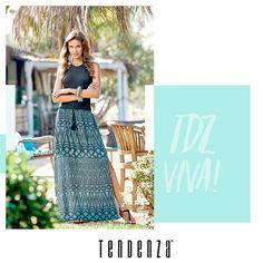 Combinação descolada para a mulherada que não deixa de lado o conforto e a leveza, sem perder o estilo. Coleção Verão 17 TENDENZA.
