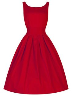 Vintage Scoop Collar Sleeveless Solid Color Midi Dress For Women