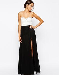 Lipsy Bandeau Embellished Maxi Dress