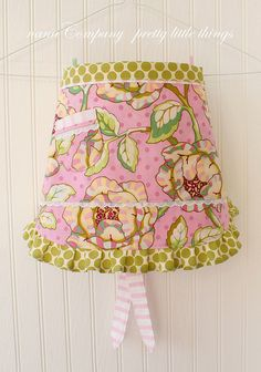 It's a kid's apron, but this would make for a great lampshade too!