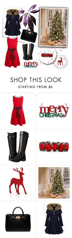"""""""Christmas"""" by nermina-okanovic ❤ liked on Polyvore featuring Monteau, Eürosoft, Mulberry and Christmasoutfit"""
