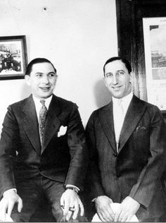"""Sam Kert (left) and Sam Cohen aka """"The Two Sammies."""" They were major Purple gang liquor distributors, they operated in many Detroit nightclubs, including the K and C nightclub that politicians, police, and gangsters frequented. From: Detroit's Infamous Purple Gang by Paul R. Kavieff"""