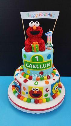 27+ Brilliant Photo of Elmo Birthday Cake Elmo Birthday Cake Elmo Cake For Caellums 1st Birthday Jocakes #CoolBirthdayCakes