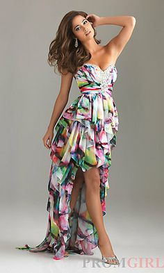 high low formal dresses at dillards | Strapless High-Low Dress,Night Moves Winter Formal Dress-PromGirl