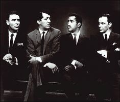 The Rat Pack: Peter Lawford, Dean Martin, Sammy davis Jr., & Frank Sinatra
