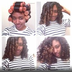 Natural Hair...pretty curls! I always style my hair this way, same ombre & everything....