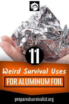 How many survival uses for aluninum foil do you know? There are a ton out there. Aluminum foil is much more that you standard kitchen item and should earn a place in your bug out bag. Keep reading to learn 11 survival uses for this weird hero of emergency Survival Food, Outdoor Survival, Survival Prepping, Survival Skills, Survival Hacks, Survival Gadgets, Survival Stuff, Survival Essentials, Bushcraft Skills