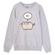 Be cozy and cute in this Pusheen Sweatshirt! Looks great on guys & girls. Kawaii Fashion, Cute Fashion, Fashion Outfits, Men's Fashion, Earl Sweatshirt, Graphic Sweatshirt, Gato Pusheen, Pusheen Shirt, Pusheen Gifts