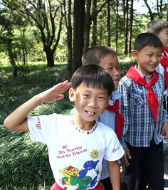 North Korea. The smiles of the children show so much hope:) God bless their little hearts and protect them. I pray for Liberty in North Korea.