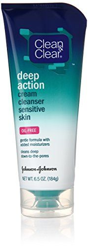 Clean  Clear OilFree Deep Action Cream Cleaner for Sensitive Skin 65 Ounce  Pack of 4 * Learn more by visiting the image link.