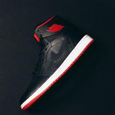Air Jordan 1 Retro High Nouveau (Black/White/Red) $150
