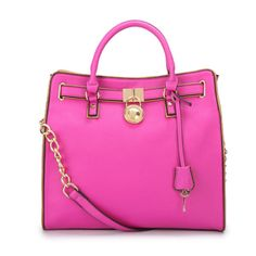 Michael Kors Hamilton Specchio Large Fuchsia Totes Collection, the greatest discount, 70% off. #fashionicon #michaelkors | See more about sweet dreams, pink purses and michael kors hamilton. | See more about sweet dreams, pink purses and michael kors hamilton.